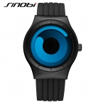 SINOBI Марка Спортивные Часы Для Мужчин Черный Силиконовый Ремешок Мужчины Часы  Синий Мода Поворот Кварцевые Часы Мужчины Relogio Masculino