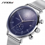 Sinobi Мужские часы лучший бренд класса люкс из нержавеющей стали с сетчатым браслетом мужчины ультра тонкий циферблат часов Человек Relogio masculino