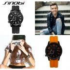 SINOBI Спорт Черный Повседневная Кварцевые Часы Для Человека На Открытом Воздухе Мода Силиконовой Лентой  Дизайн  Наручные Часы Тавель Оптовая Часы