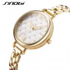 SINOBI Брендовые женские часы  роскошные золотые кварцевые часы женские модные браслет часы Элегантный водонепроницаемый Montre Femme