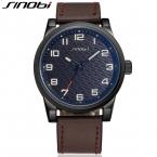 SINOBI Спортивные мужские Часы Из Натуральной Кожи Часы Мужчины Hardlex 30 М Водостойкой Наручные Часы Relojes Hombre Marca Famosa