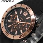 Оригинал SINOBI Силиконовой Лентой Мужские Золотые Часы Спортивные Часы Мужчины  Завода Непосредственно Продажу Мужские Наручные Часы Relogio мужской
