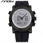SINOBI Мужчины Спортивные Часы Силиконовый Ремешок Мужские Спортивные Часы Цифровые Кварцевые Световой Relojes Hombre
