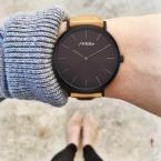 SINOBI новая мода дамы водонепроницаемый ударопрочный часы часы кожаный ремешок luxury brand простой дамы Женева кварцевые часы la