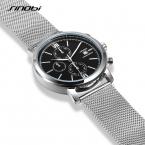 SINOBI Марка Многофункциональный Спорт Кварцевые Наручные Часы Из Нержавеющей Стали Сетка Ремешок Мужские Часы Мода Часы Мужские Relojes Hombre