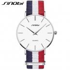 Sinobi Мужские часы ультра тонкий циферблат часы мужские наручные часы бизнес кварц нейлоновый ремешок часы Relogio masculino