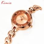 Kimio часы женщин лучший бренд роскошные наручные часы с кристалл браслет кварцевые часы для девочек леди часы relogios feminino