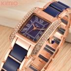 h kimio luxury brand кварцевые женские часы diamond часы браслет дамы платье золото наручные часы с бесплатной подарочной коробке женские