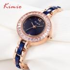 Kimio мода женщины одеваются часы с горный хрусталь свободного покроя девочки студент часы часы Reloj