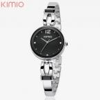 Марка Кимио Часы Браслет Япония Кварцевый Покрыть Серебряный Браслет Повседневная Часы для Женщин