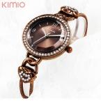 Мода  новый двойной цепи золотой kimio часы женщины роскошные известная марка reloj mujer marca де lujo famosas hodinky женщины