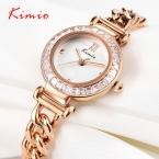 новинка свободного покроя KIMIO женщины часы ювелирные цепи ремень известная марка горный хрусталь женские часы студенческие подарки