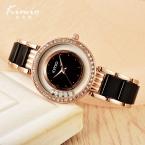 Kimio мода bling bling кристалл часы для дам золото кварцевые водонепроницаемые наручные часы подарок лета