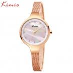 Kimio женские часы природный shell наберите сетки стальной ленты алмазов женские часы  новая мода кварцевые часы женские часы