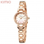 KIMIO женские Часы Люксовый Бренд Кварцевые Часы Женщины Мода Relojes Mujer Дамы Наручные Часы С Бриллиантами Relógio Feminino