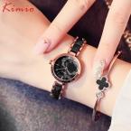 Kimio женская мода часы  бренд имитация керамической золотые часы роскошные кварцевые часы наручные часы женские часы для женщин