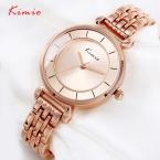 KIMIO Женские Часы Новая Мода Люксовый Бренд Женщины Золото Кварцевые Наручные Часы Браслет Часов Relojes Mujer Montre Femme