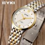 3 Модные цвета EYKI Марка relogio Роскошные женские Случайные часы водонепроницаемые часы женщины моды Платье Горный Хрусталь часы