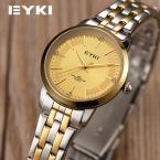 Марка EYKI Женщины Бизнес Часы Full Metal Стальной Ленты Золотой Водонепроницаемый Роскошные Модные Женские Часы