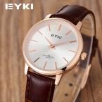 Eyki подлинной просто досуг кожаный ремень ретро мода свободного покроя повелительниц тонкий студентов часы женщины часы