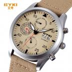 EYKI механическая военный ткань ремешок Часы мужские Элитный бренд автоматические часы мужчины год месяц неделю Дата наручные часы