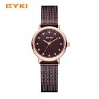 EYKI модные женские туфли кварцевые часы женщина Милан Ницца стали ткань на Стразы Водонепроницаемый 30 Элитный бренд женские часы из розового золота