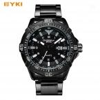 EYKI Большой Прохладный Спорт стереоскопического набором светящийся Скелет указатель нержавеющей стали Элитный бренд часы мужские наручные часы для мужчин