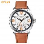 EYKI моды большой Циферблат уникальный Дата Дизайн кварцевые часы мужские светящиеся Водонепроницаемый мужские часы лучший бренд класса люкс  наручные часы человек