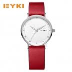 EYKI ультра тонкий китайский любовь сказка анаглиф циферблат натуральная кожа Водонепроницаемый смотреть женщин известный бренд женские часы Роскошные