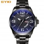 Стильный Синий Покрытие стекло световой стали спортивные часы для мужчин Неделя Месяц Дата Календарь Мужские часы лучший бренд роскошных мужчин часы