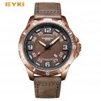 EYKI большой стереоскопического циферблат светящиеся Популярные Красочные Younth мужские часы топ Брендовые мужские спортивные часы кварцевые наручные часы для мужчин