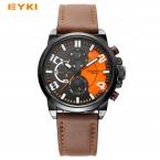 EYKI красочные sub циферблате работают спортивные часы для мужчин  роскошные часы Известный бренд Мужчины Смотреть Дата Неделя часов световой наручные часы