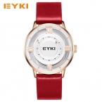 EYKI Творческий без иглы мяч прокатки время женщины часы натуральная кожа холст ремень женские часы модные женские часы