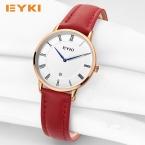 EYKI ультра тонкий две иглы натуральная кожа ремень Элитный бренд розовое золото платье женские часы  часы женщины Relogio feminino