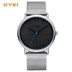 EYKI просто Ультра Тонкий Мужские часы Милан Ницца стали ткань на Элитный бренд кварцевые часы мужчины Водонепроницаемый 30 М Мужская наручные часы