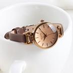 Lady женские Часы Кварца Япония Мода Часы Платье Браслет Ретро Милые Простые Кожаные Девушка  На День Рождения Julius коробка