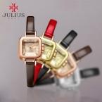 Топ Julius Леди Женщины Дети Наручные часы Элегантный Мини Милый Мода Часы Платье Кожаный Браслет Девушки Детей  На День Рождения