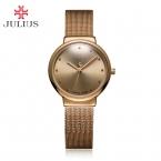 Леди тонкий женские часы япония mov мода часы платье браслет из нержавеющей стали бизнес-девушка день рождения подарок матери julius коробка