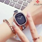 Топ Юлий леди женские наручные часы Элегантные Простые Модные часов платье кожаный браслет школьников для девочек подарок на день рождения