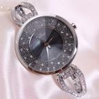Горный хрусталь оболочки леди женские часы япония кварцевые элегантные модные часы часы платье браслет-цепочка девушки подарок на день рождения julius box