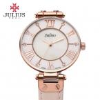 julius леди женщин наручные часы ретро моды часы платье браслет shell рим кожа студент девушка подарок на день рождения 832