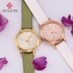 Топ julius леди женские часы элегантный простой мода часы платье часы браслет кожа школа студент девушка подарочной коробке 732