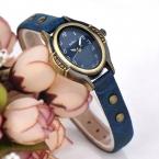 Топ Юлий Часы женские Элегантные часы горный хрусталь Ретро платье Браслет кожаный Школьница подарок на день рождения JA-586