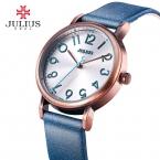 Топ Ретро Julius Унисекс женские Часы Multicolors Мода Часы Платье Кожаный Браслет Девушка День Рождения  матери