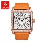Топ Julius Леди женские Часы Кварца Япония Элегантный Горный Хрусталь Большой Номер Мода Часы Платье Браслет Кожа Большая Девочка