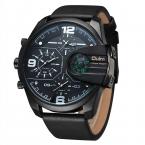 Oulm Новые Кожаные Спортивные Часы Мужской Большой Размер Кварцевые Наручные Часы Мужские Дизайнерские Часы Роскошные Военные Часы reloj hombre