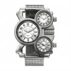 OULM сетки мужские часы лучший бренд класса люкс Несколько Часовой пояс Мужские часы Мужские кварцевые открытый спортивные наручные часы Reloj Hombre