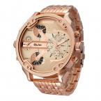 OULM мужской военные часы золотой негабаритных большой кварцевые часы Топ бренд мужской полный нержавеющей стали наручные часы Relogio Masculino