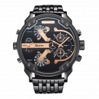 Марка OULM 3548 модные часы для мужчин из нержавеющей стали 2 раз кварцевые часы DZ асеро inoxidable Relogio masculino Marca оригинальный