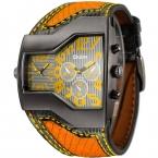 Топ Марка OULM 1220 Модные Роскошные мужские часы Dual Time Повседневная Кварцевые часы Relogio masculino Marca оригинальный Luxe Montre MARQUE